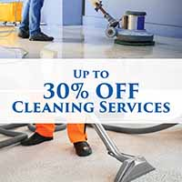 30% off cleaning services