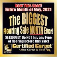 Biggest Flooring Sale at Certified Carpet in Lancaster